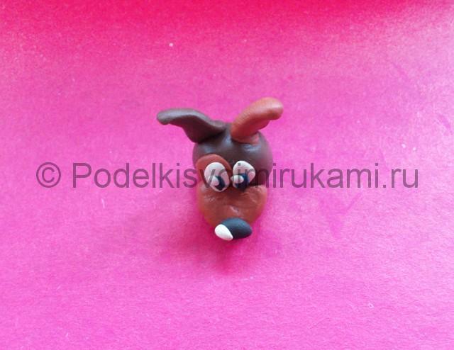 Лепка щенка из пластилина - фото 5.