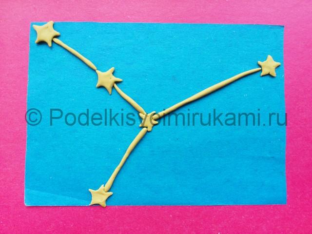 Лепка созвездия из пластилина - фото 7.