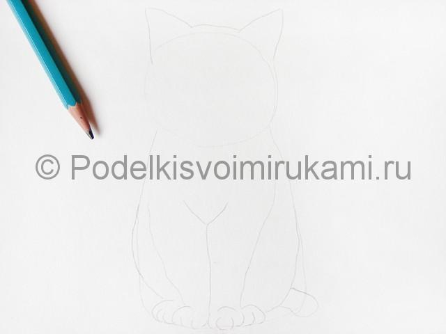 Рисуем кошку цветными карандашами - фото 3.
