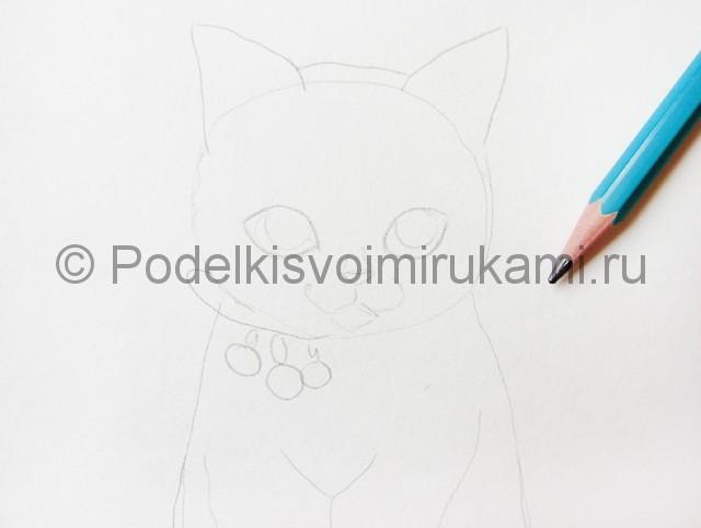 Рисуем кошку цветными карандашами - фото 4.