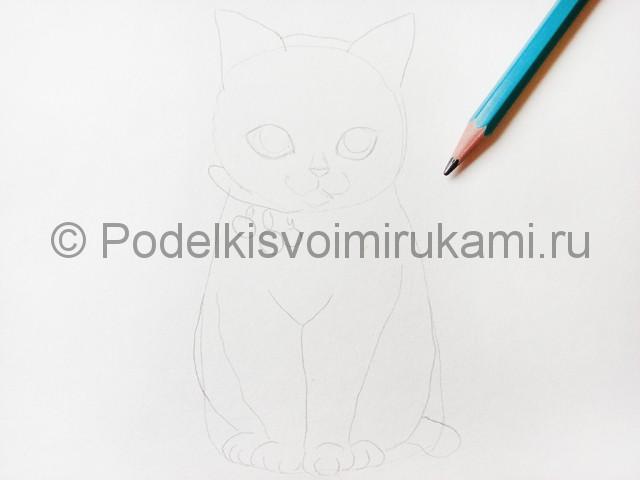 Рисуем кошку цветными карандашами - фото 5.