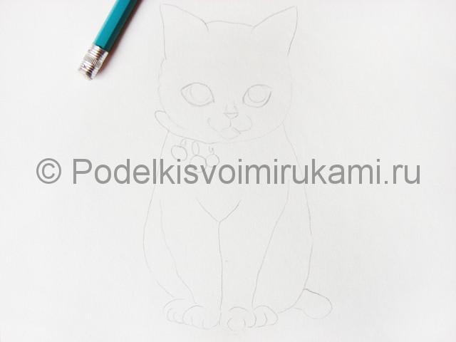 Рисуем кошку цветными карандашами - фото 6.