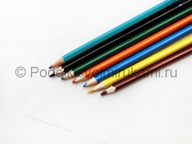 Рисуем лису цветными карандашами - фото 1.