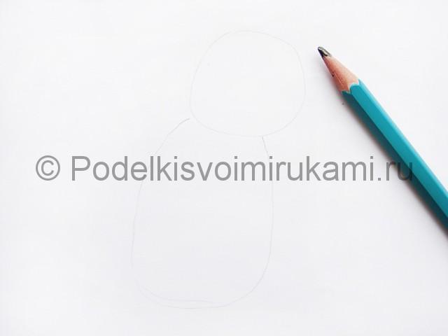 Рисуем лису цветными карандашами - фото 2.