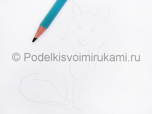 Рисуем лису цветными карандашами - фото 3.