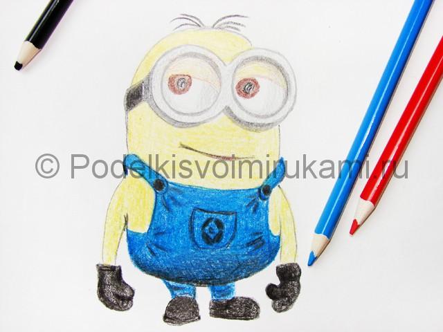 Рисуем миньона цветными карандашами - фото 21.