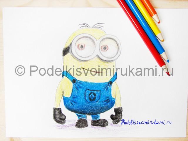 Рисуем миньона цветными карандашами - фото 25.