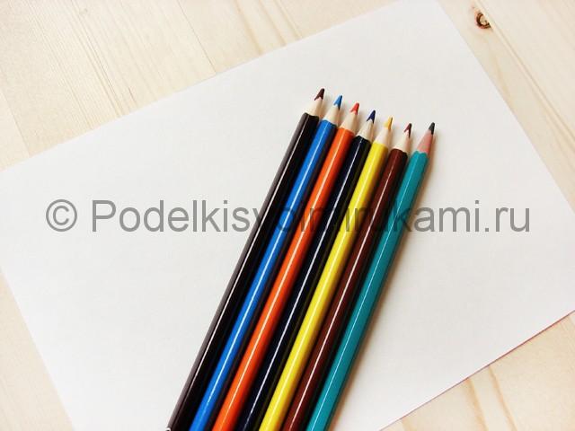Рисуем собаку цветными карандашами - фото 1.