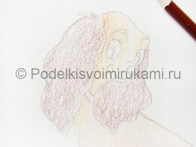 Рисуем собаку цветными карандашами - фото 10.