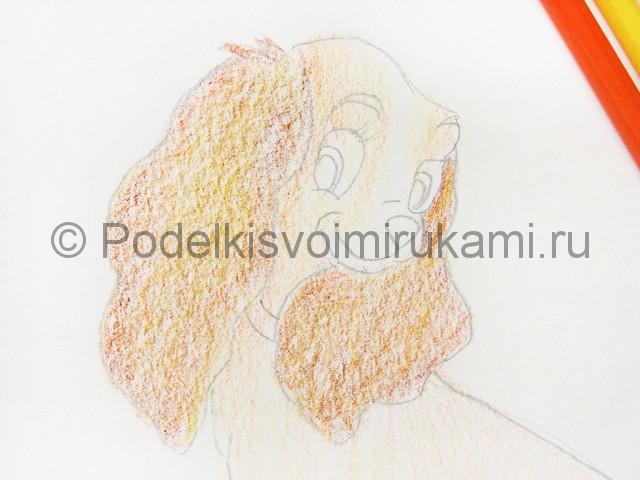 Рисуем собаку цветными карандашами - фото 12.