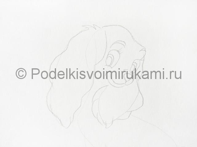 Рисуем собаку цветными карандашами - фото 4.