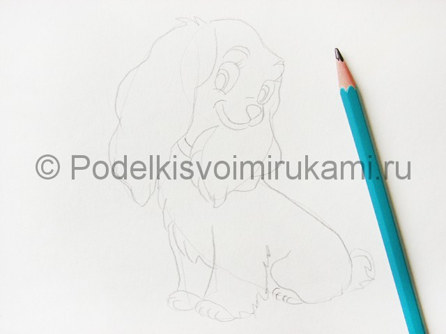Рисуем собаку цветными карандашами - фото 6.
