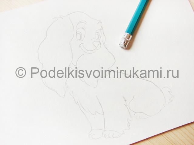 Рисуем собаку цветными карандашами - фото 7.