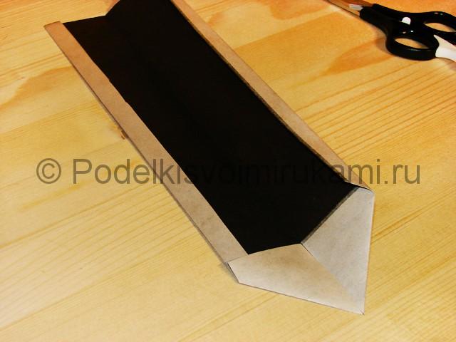 Изготовление ножа из бумаги - фото 17.