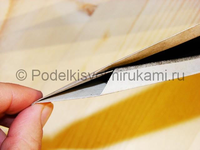 Изготовление ножа из бумаги - фото 18.