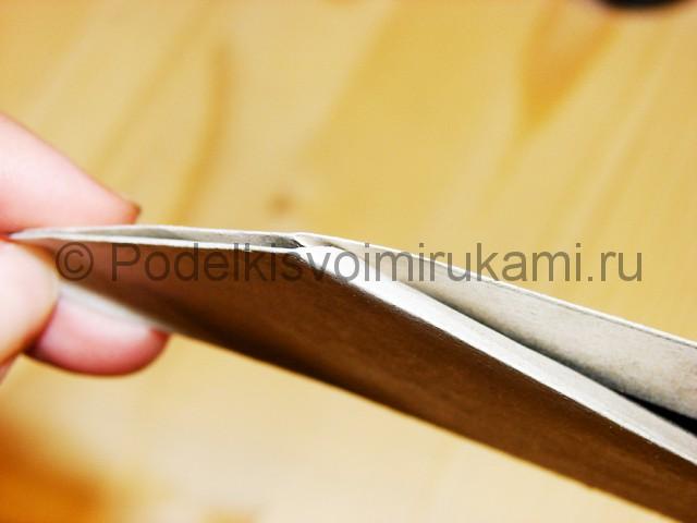 Изготовление ножа из бумаги - фото 19.