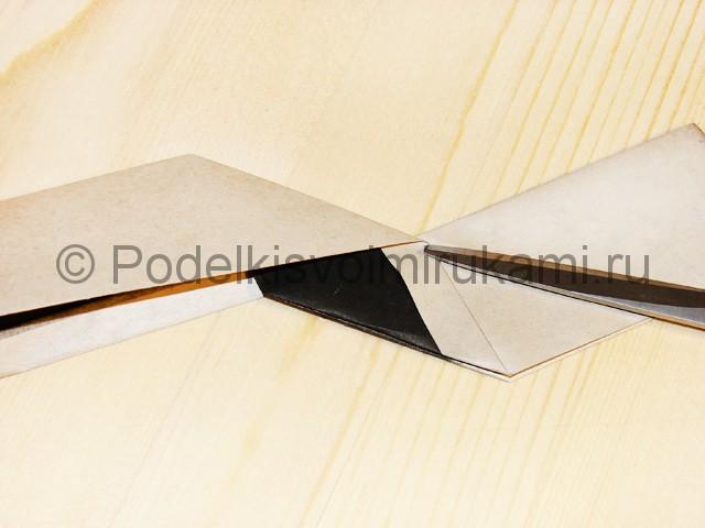 Изготовление ножа из бумаги - фото 26.