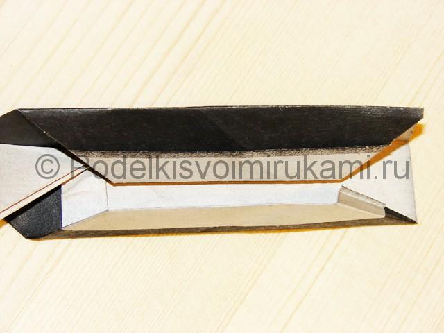 Изготовление ножа из бумаги - фото 33.