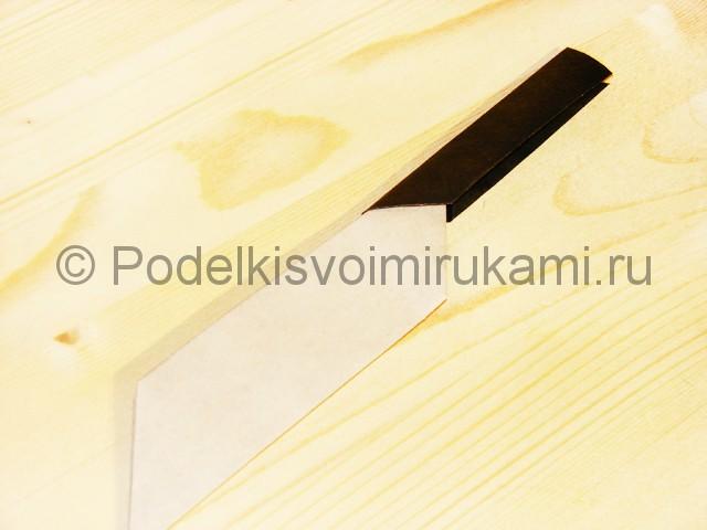 Изготовление ножа из бумаги - фото 35.