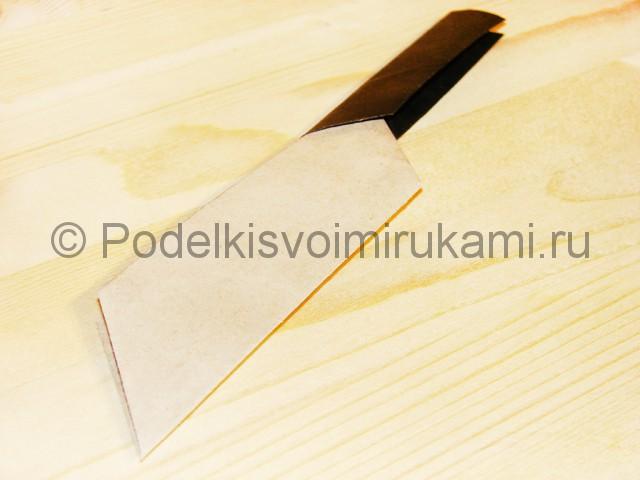 Изготовление ножа из бумаги - фото 36.
