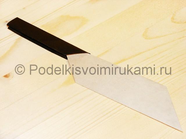 Изготовление ножа из бумаги - фото 37.