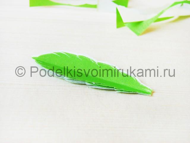 Изготовление пальмы из бумаги - фото 10.