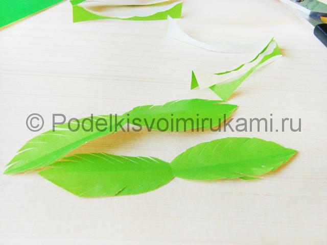 Изготовление пальмы из бумаги - фото 11.