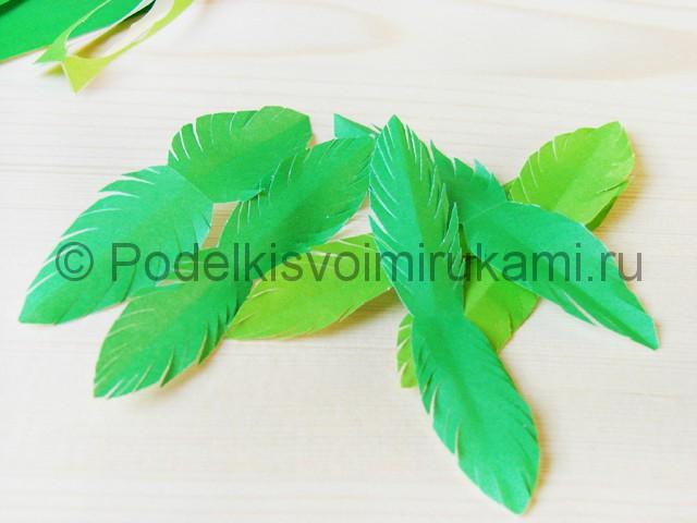 Изготовление пальмы из бумаги - фото 12.