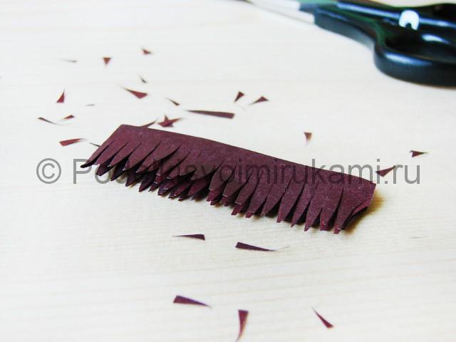 Изготовление пальмы из бумаги - фото 15.