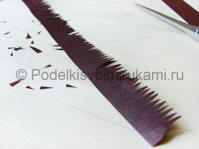 Изготовление пальмы из бумаги - фото 16.