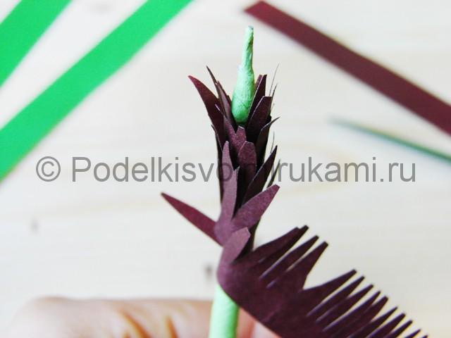 Изготовление пальмы из бумаги - фото 17.