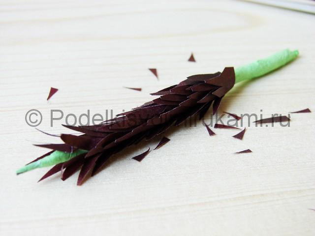 Изготовление пальмы из бумаги - фото 18.
