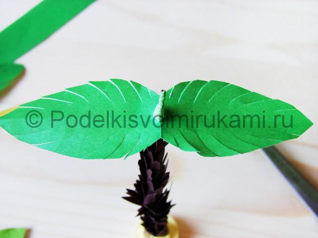 Изготовление пальмы из бумаги - фото 23.