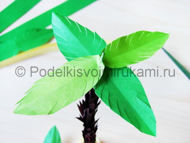 Изготовление пальмы из бумаги - фото 24.