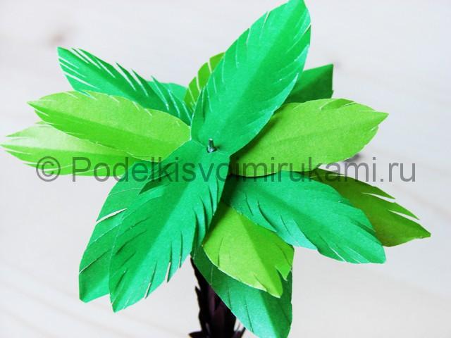 Изготовление пальмы из бумаги - фото 26.