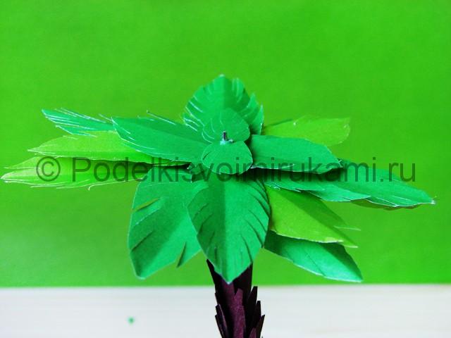 Изготовление пальмы из бумаги - фото 27.