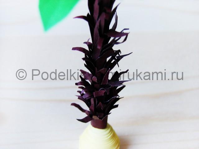 Изготовление пальмы из бумаги - фото 28.