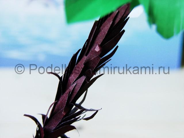 Изготовление пальмы из бумаги - фото 29.