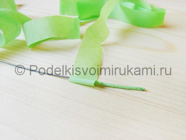 Изготовление пальмы из бумаги - фото 3.