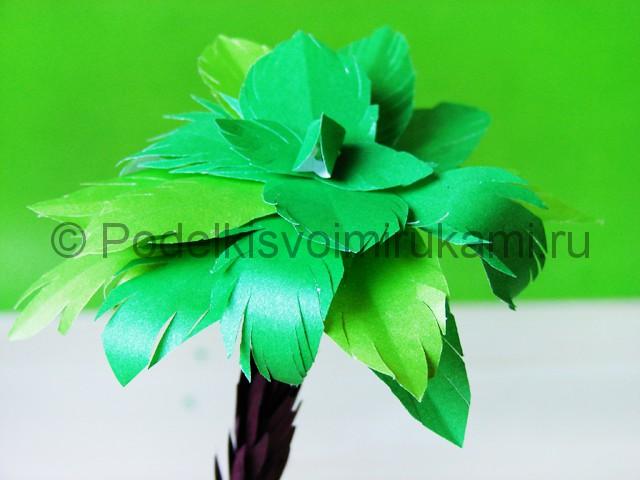 Изготовление пальмы из бумаги - фото 30.