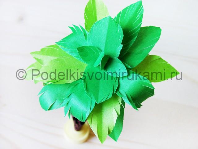 Изготовление пальмы из бумаги - фото 31.