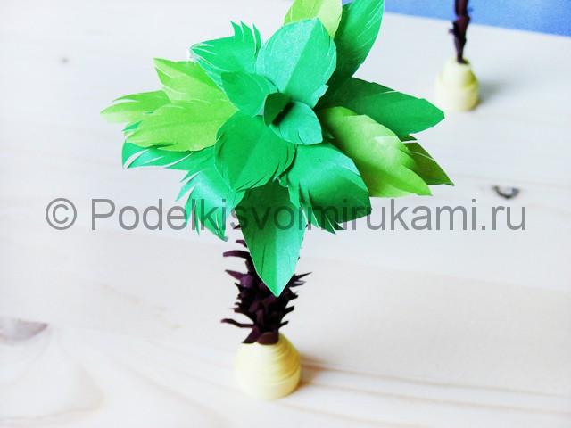 Изготовление пальмы из бумаги - фото 32.