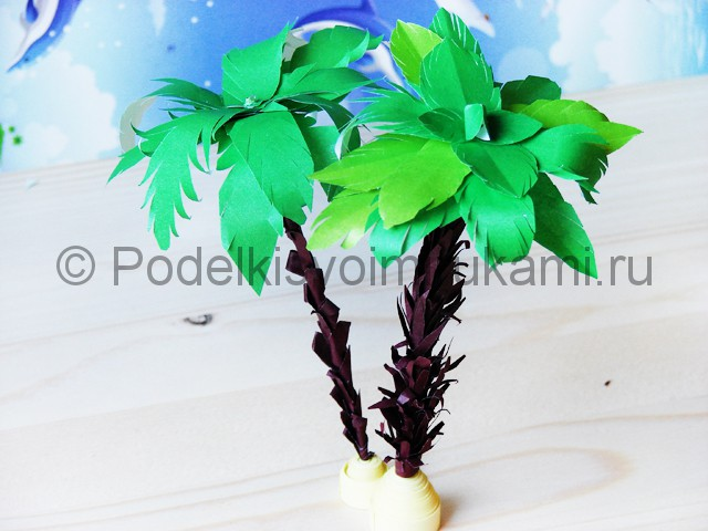 Изготовление пальмы из бумаги - фото 34.