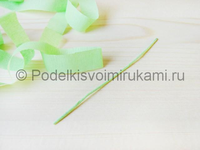 Изготовление пальмы из бумаги - фото 4.