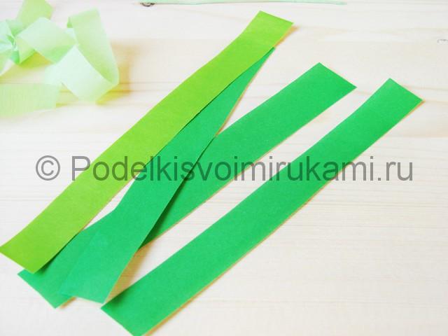 Изготовление пальмы из бумаги - фото 6.