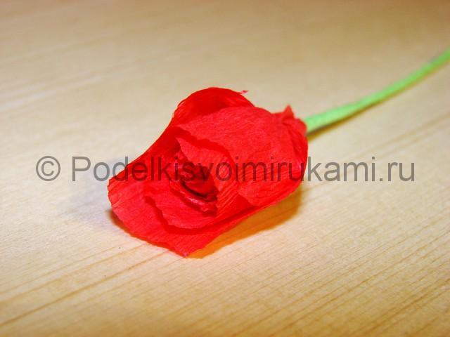 Изготовление розы из гофрированной бумаги - фото 13.