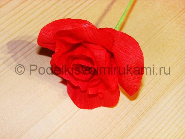 Изготовление розы из гофрированной бумаги - фото 18.