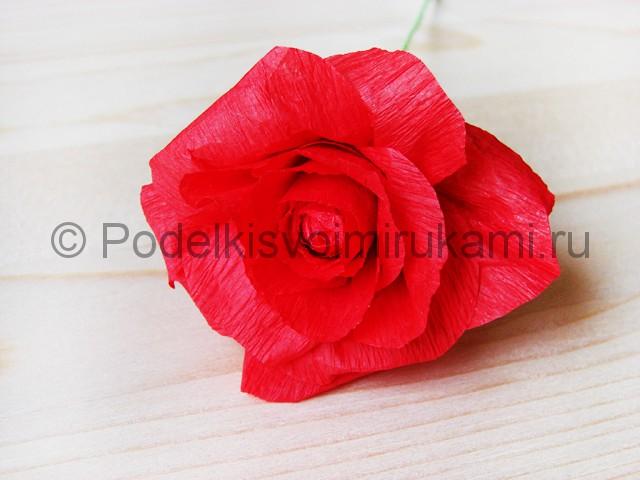 Изготовление розы из гофрированной бумаги - фото 20.