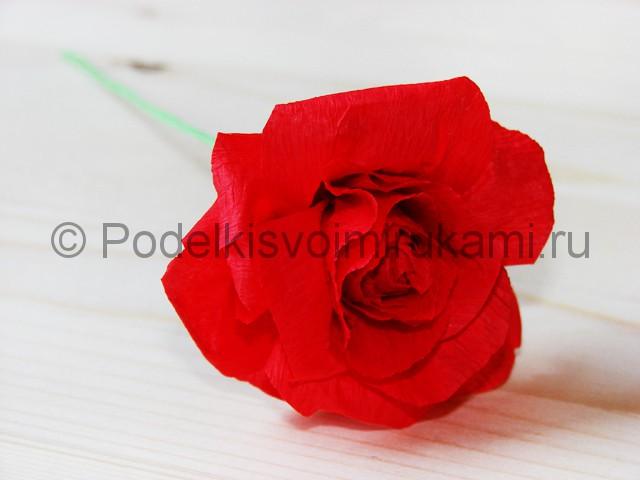 Изготовление розы из гофрированной бумаги - фото 23.