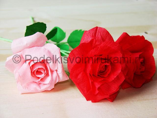 Изготовление розы из гофрированной бумаги - фото 34.